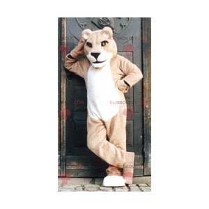 Beige leeuwin mascotte - Redbrokoly.com