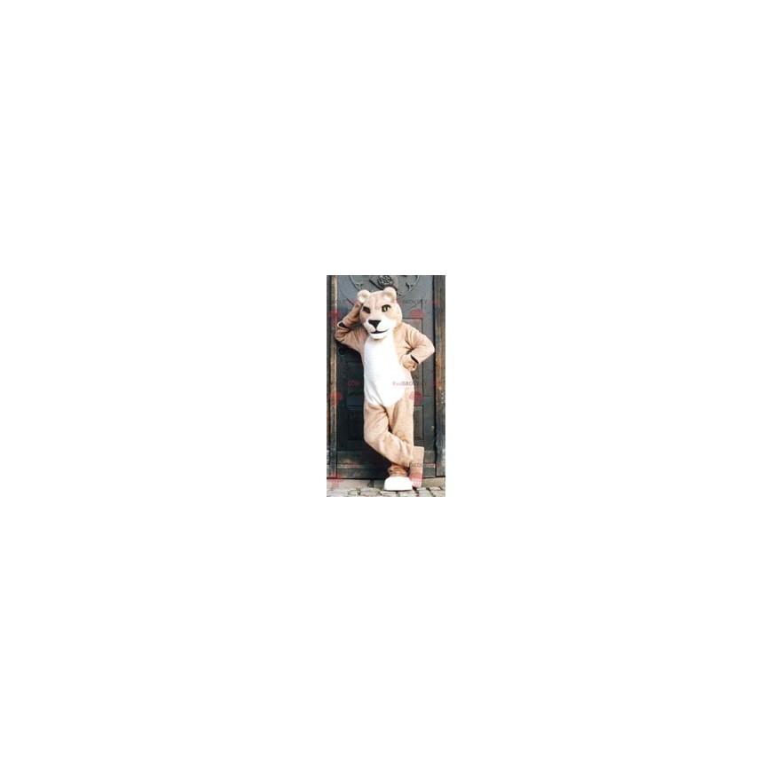 Beige lioness mascot - Redbrokoly.com