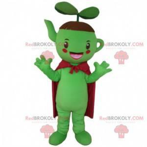 Gigantyczna zielona maskotka czajniczek, kostium herbaciarni -