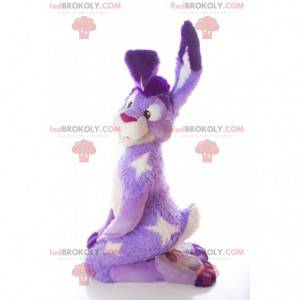 Mascote coelho roxo e branco - Redbrokoly.com