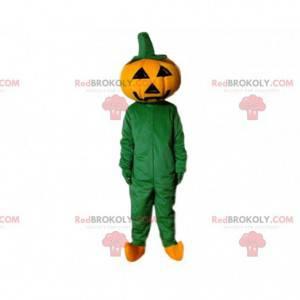 Reusachtige Halloween-pompoenmascotte, Halloween-kostuum -