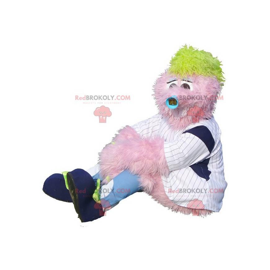Všechny maskot chlupatý růžový sněhulák - Redbrokoly.com