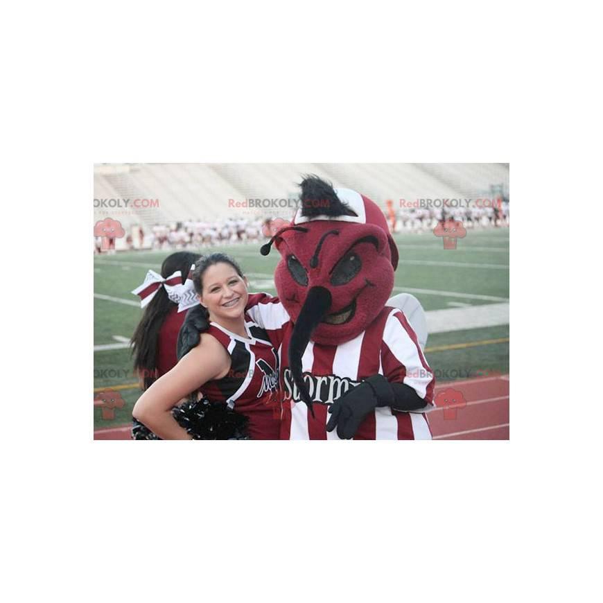 Mosquito mascot red black and white - Redbrokoly.com