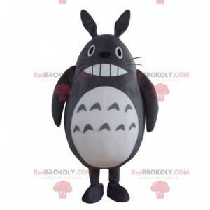 Grå og hvit Totoro maskot, tegneserie drakt - Redbrokoly.com