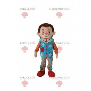 Mladý muž maskot, cirkusová postava kostým - Redbrokoly.com