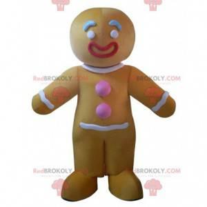 Mascotte personaggio di pan di zenzero, costume di Shrek -