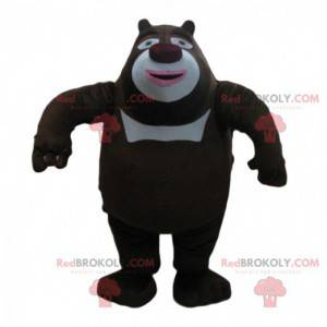 Black and white bear mascot, big bear costume - Redbrokoly.com