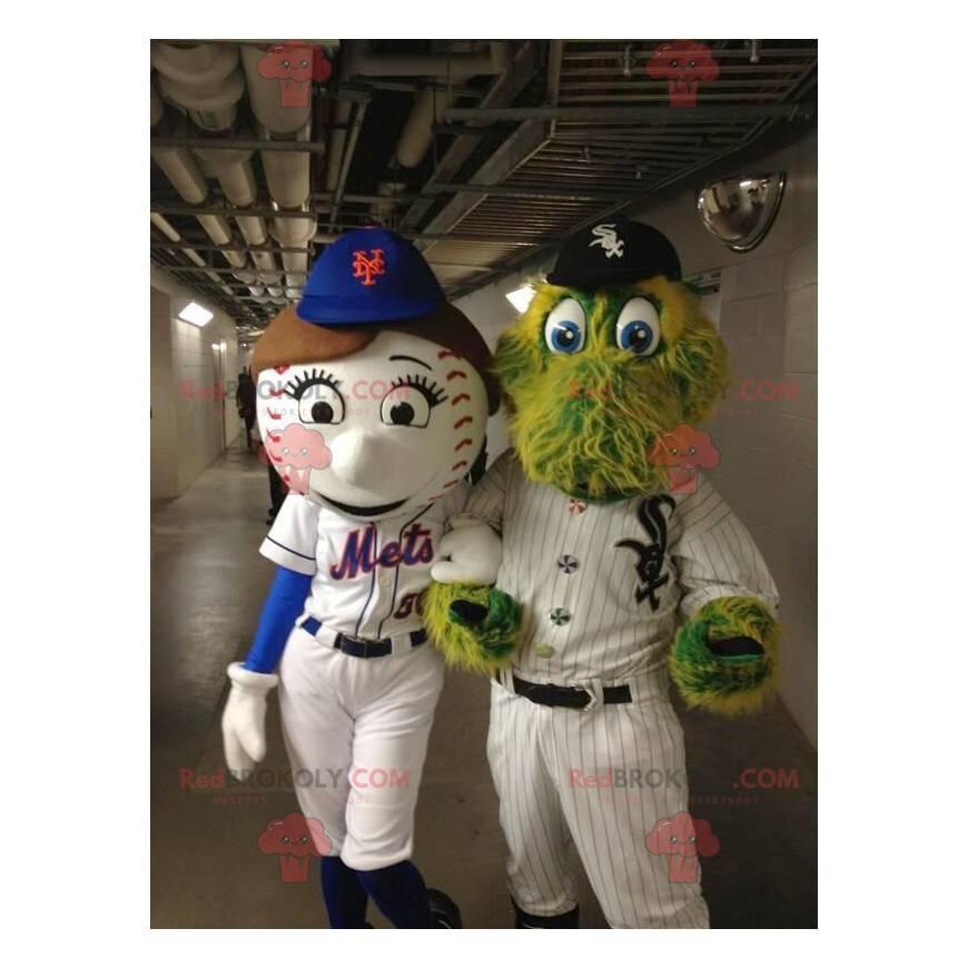 2 Maskottchen: ein Baseball und ein Krokodil - Redbrokoly.com