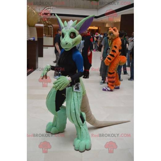 Green creature dinosaur mascot - Redbrokoly.com