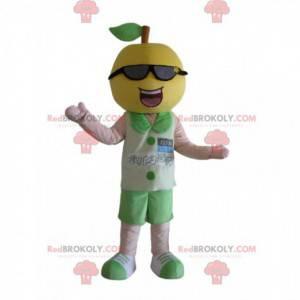 Zitronenmaskottchen mit Sonnenbrille, Obstkostüm -