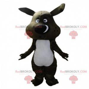 Czarna maskotka dzika, gigantyczny kostium guźca -