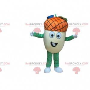 Gigant maskotka żołądź, kostium jesiennego owocu -