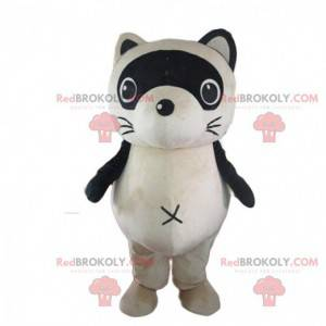 Mascota mapache, disfraz de turón, animal del bosque -
