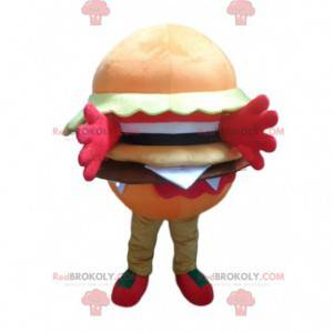 Mascotte hamburger arancione, costume hamburger - Redbrokoly.com