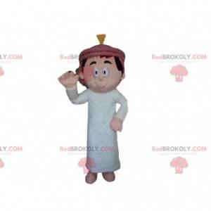 Mascot Sultan, hombre magrebiano, traje oriental -