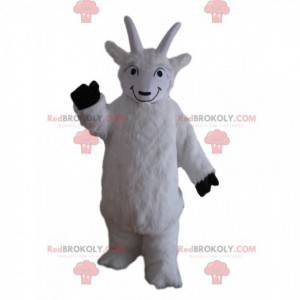 Mascotte capra bianca, costume da capra, montone -