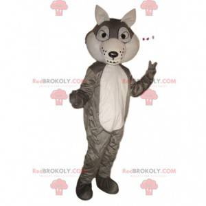 Gray and white wolf mascot, wolf dog costume - Redbrokoly.com