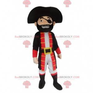 Piraat mascotte, kostuum piratenkapitein - Redbrokoly.com