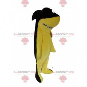 Mascot tiburón amarillo y negro, traje de mar - Redbrokoly.com