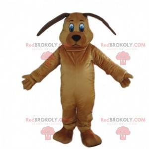 Brun hundemaskot, doggie kostume, hundeforklædning -