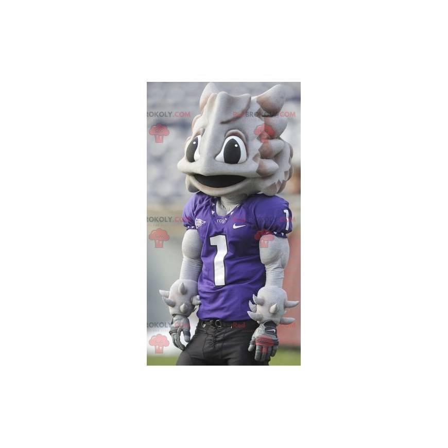 Alien gray dinosaur strange creature mascot - Redbrokoly.com