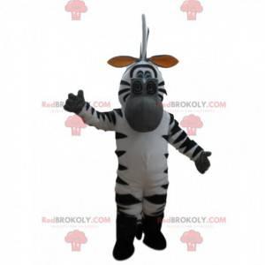 Mascot Marty, de beroemde cartoon zebra uit Madagascar -