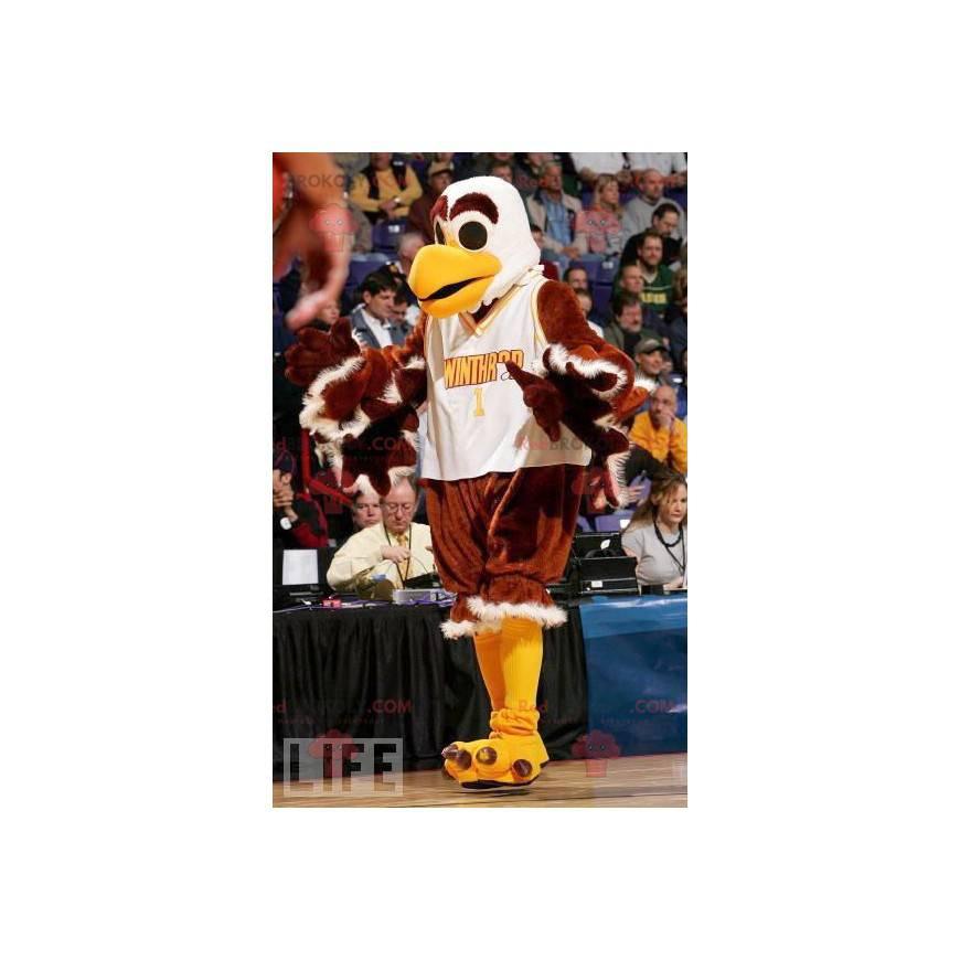 White and yellow brown vulture eagle mascot - Redbrokoly.com