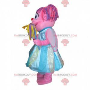 Mascote de Abby Cadabby, personagem rosa da Vila Sésamo -