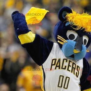 Mascote tigre azul e amarelo - Redbrokoly.com