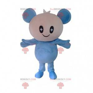 White and blue doll mascot, teddy bear costume - Redbrokoly.com