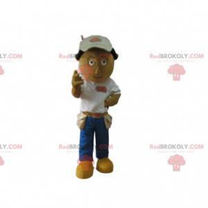Mascota del trabajador, disfraz de manitas, manitas -