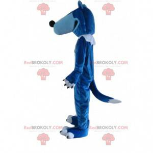 Blue and white wolf mascot, giant wolf costume - Redbrokoly.com