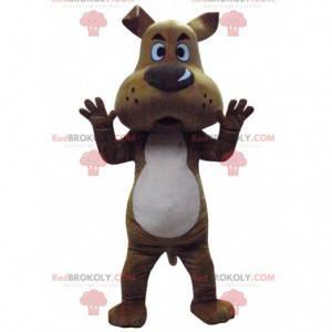 Mascot Scooby-Doo, de beroemde cartoon bruine hond -