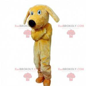 Mascote de cachorro amarelo de pelúcia, fantasia de cachorro