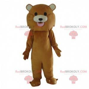 Mascotte leone marrone completamente personalizzabile -