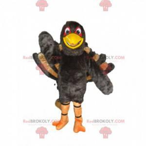 Mascote gigante do peru, fantasia de pavão dando cambalhotas -