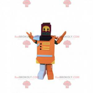 Mascote de brinquedo laranja, fantasia de robô para criança -