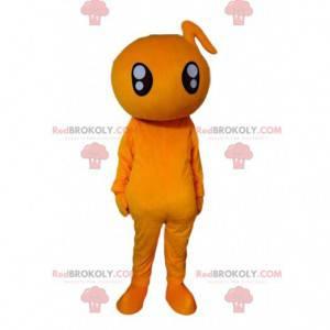 Maskot oranžové postavy, kostým oranžové stvoření -