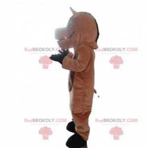 Mascot zwart zwijn, kostuum reusachtig wrattenzwijn -