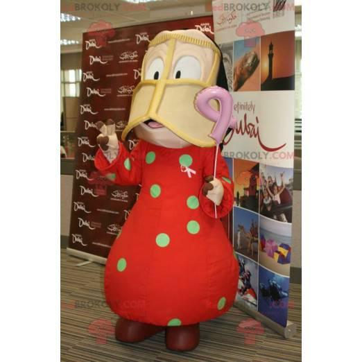Oriental girl mascot - Redbrokoly.com