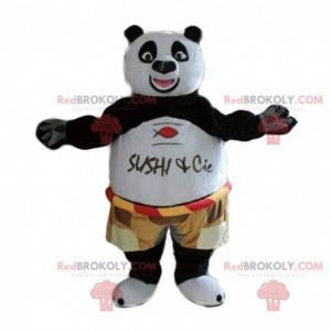 Mascot Po Ping, den berømte panda i Kung fu panda -