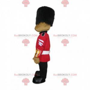 Teddy bear mascot dressed as a British guard, Welsh guard -