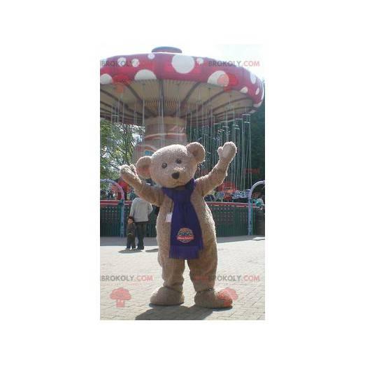 Beige teddy bear mascot - Redbrokoly.com