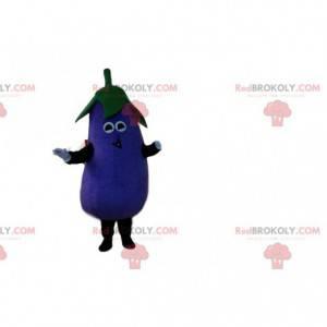 Maskot kæmpe aubergine, lilla grøntsagsdragt - Redbrokoly.com