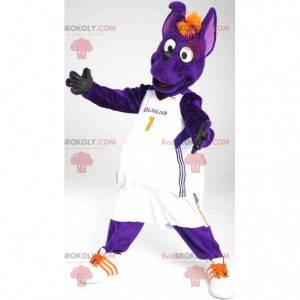 Mascote cão canguru roxo - Redbrokoly.com