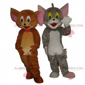 Tom en Jerry mascotte, beroemde cartoon kat en muis -