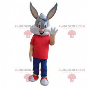 Mascot Bugs Bunny, beroemd grijs konijn uit Looney Tunes -