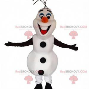 Mascotte di Olaf, famoso pupazzo di neve dei cartoni animati -