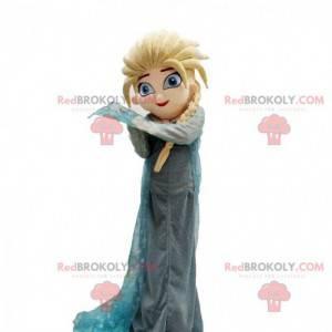 Mascot Elsa, princess from the cartoon Frozen - Redbrokoly.com
