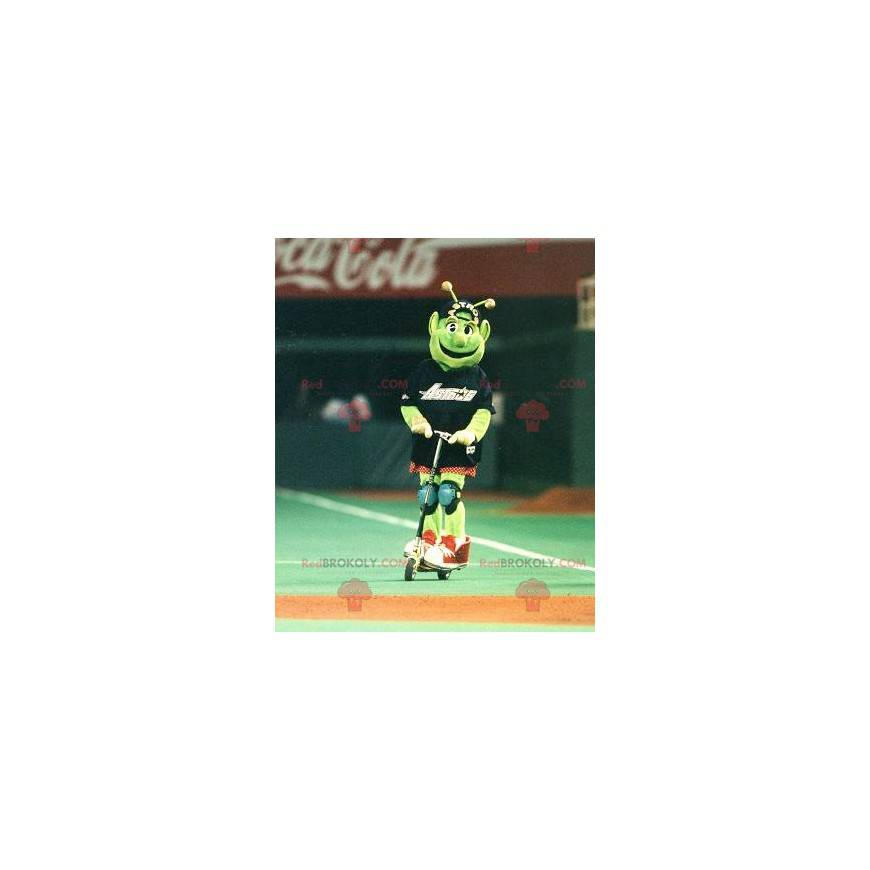 Green alien alien mascot - Redbrokoly.com